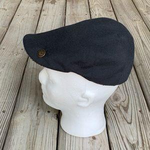 Goorin Brothers Black Linen/Cotton Newsboy Cap. S